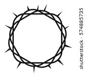 Crown Of Thorns Icon. Simple...
