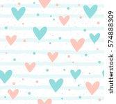 heart seamless background.... | Shutterstock .eps vector #574888309