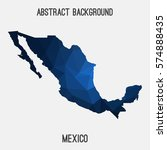 mexico in geometric polygonal... | Shutterstock .eps vector #574888435