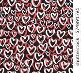 abstract seamless heart pattern.... | Shutterstock .eps vector #574891765