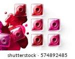 nail art concept. fine art... | Shutterstock . vector #574892485