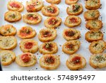 fresh baked light and delicious ... | Shutterstock . vector #574895497