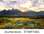 A Sunset In The Jackson Hole...