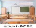 interior of a school class   Shutterstock . vector #574899811