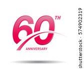 60 years pink anniversary.... | Shutterstock .eps vector #574902319