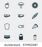 vector illustration of 12 dish... | Shutterstock .eps vector #574902487