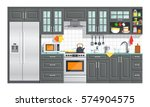 kitchen appliances with black... | Shutterstock .eps vector #574904575
