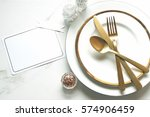 elegant and chic gold and white ... | Shutterstock . vector #574906459