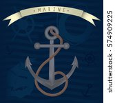 anchor with rope vector... | Shutterstock .eps vector #574909225