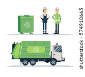 cool vector urban sanitary... | Shutterstock .eps vector #574910665