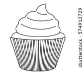 muffin icon. outline... | Shutterstock .eps vector #574912729