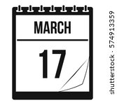 calendar with the date of march ... | Shutterstock .eps vector #574913359