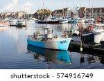eastbourne  england   february... | Shutterstock . vector #574916749