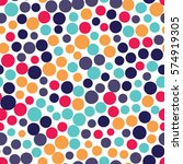 seamless dots pattern with...   Shutterstock .eps vector #574919305