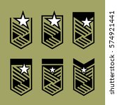star and stripes shield... | Shutterstock .eps vector #574921441