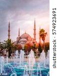the blue mosque   sultanahmet... | Shutterstock . vector #574923691
