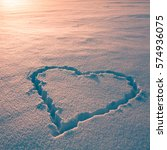 valentine's day love heart... | Shutterstock . vector #574936075