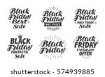 black friday  sale label.... | Shutterstock .eps vector #574939885