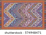 colorful mosaic oriental kilim...   Shutterstock .eps vector #574948471