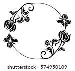 black and white round frame... | Shutterstock . vector #574950109