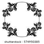 black and white round frame... | Shutterstock . vector #574950385