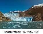 Blue Glacier In Mountain...