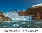 Blue Glacier In Mountain...