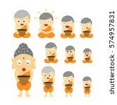 vector buddhist monk  action ...   Shutterstock .eps vector #574957831