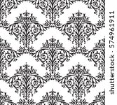 damask seamless floral pattern... | Shutterstock .eps vector #574961911