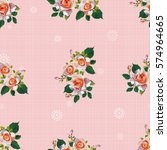 seamless floral pattern with... | Shutterstock .eps vector #574964665