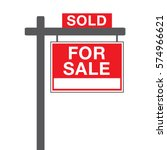 a basic for sale sign in vector ... | Shutterstock .eps vector #574966621