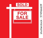 a basic for sale sign in vector ... | Shutterstock .eps vector #574966639