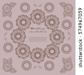 vector. wedding. templates for... | Shutterstock .eps vector #574967059