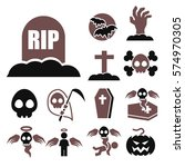 rip icon set | Shutterstock .eps vector #574970305