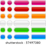 blank web glossy buttons....   Shutterstock .eps vector #57497380