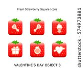 set valentines day objects 3...