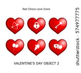 set valentines day objects 2...