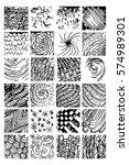 monochrome hipster prints ... | Shutterstock .eps vector #574989301