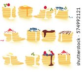 hand painted pancakes  isolated