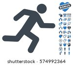 running man pictograph with... | Shutterstock .eps vector #574992364