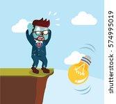 zombie businessman bulb falls... | Shutterstock . vector #574995019