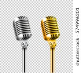 different concert microphones... | Shutterstock .eps vector #574996201