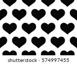black and white hearts design... | Shutterstock . vector #574997455