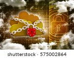 3d rendering cloud computing ... | Shutterstock . vector #575002864