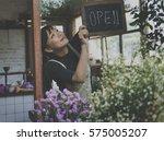 flower shop store florist... | Shutterstock . vector #575005207