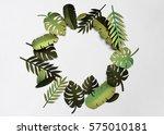 tropical handcrafted papercraft ... | Shutterstock . vector #575010181