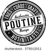 vintage poutine food menu stamp | Shutterstock .eps vector #575012011