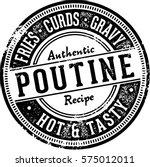 vintage poutine food menu stamp | Shutterstock .eps vector #575012011