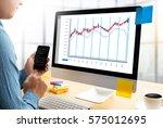 stock market results stock...   Shutterstock . vector #575012695