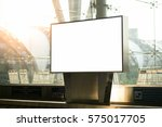 blank advertising billboard at... | Shutterstock . vector #575017705